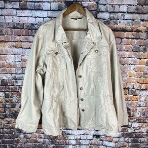 Northcrest Khaki Button Down Jacket